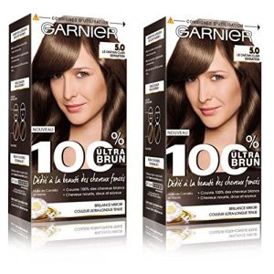 Garnier 100% Ultra Brun Coloration permanente 5.0 Le Châtain Clair Sensation