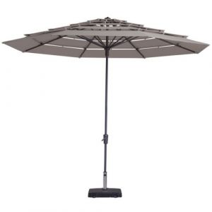 Madison Parasol Syros Open Air 350 cm Taupe Rond PC12P015