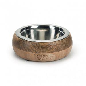 Designed by Lotte Gamelle pour chiens DBL Mandira en bois, 13,5 cm - Wood/SG - Taille 13,5