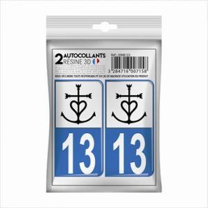 Cadox 2 Stickers En 3d Département Bouches Du Rhône 13 Croix De Camargue