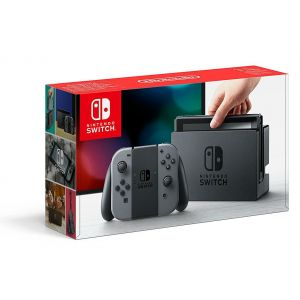 Nintendo Switch With Gray Joy-Con - Console De Jeux - Full Hd - Gris, Noir