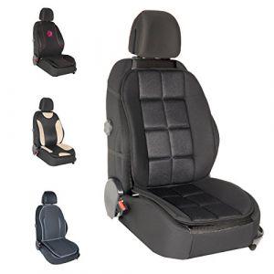 DBS Couvre Siège - Voiture/Auto - Noir - Confort - Antidérapant - Compatible Airbag - Universel