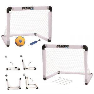 D'arpèje Set double cage de foot pliables avec accessoires