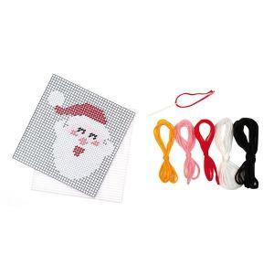 CTOP Canevas Père Noël en kit 13,5 x 14 cm