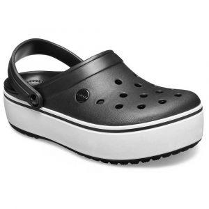 Crocs Sabots Crocband Platform Clog - Black / White - EU 38-39