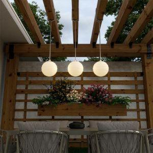 New Garden Suspension d'extérieur MOOVERE lampe nomade avec télécommande batterie rechargeable led/rgb beige
