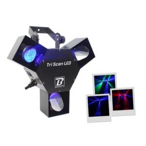 BoomToneDJ Tri LED Scanner Bleu