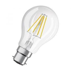 Osram Ampoule LED B22 standard claire 7 W équivalent a 60 W blanc chaud