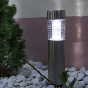 Galix Borne Solaire 40 cm Inox