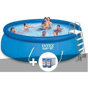 Intex Kit piscine autoportée Easy Set 4,57 x 1,22 m + 6 cartouches