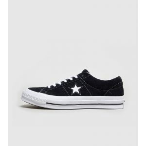 Converse Lifestyle One Star Ox Suede, Chaussures de Fitness Mixte Adulte, Noir (Black/White/White 001) - 45 EU