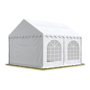 Intent24 TOOLPORT Tente Barnum de Réception 3x5 m PREMIUM Bâches Amovibles PVC 500 g/m² blanc + Cadre de Sol Jardin.FR