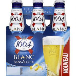 Kronenbourg 1664 - 6x25cl 1664 blanc sans alcool - 0.40 degre alcool