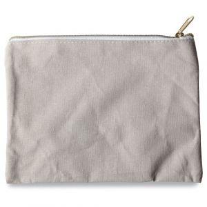 Pochette en tissu gris clair (21x16cm)