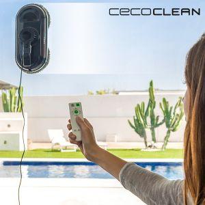 Cecoclean Robot Lave-Vitres WinRobot 870 5035 80W Bleu Noir