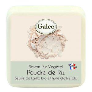Galeo Savon pur végétal Poudre de Riz