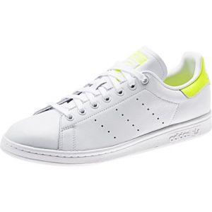 Adidas Stan Smith Cursive Logo cuir Femme-36-Blanc Jaune