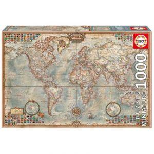 Educa Vieille carte du monde - Puzzle 1000 pièces