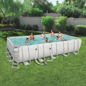 Bestway Ensemble de piscine Power Steel Rectangulaire 56470