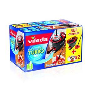 Vileda Balai + seau Easy Wring & Clean Turbo - Set complet 2 recharges