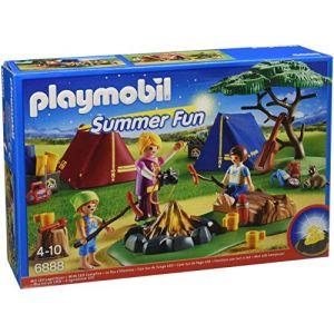 Playmobil 6888 Summer Fun - Camp avec feu de camp LED