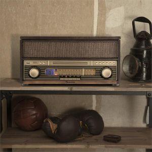 Auna Epoque 1909 - Système audio rétro tourne-disque Bluetooth