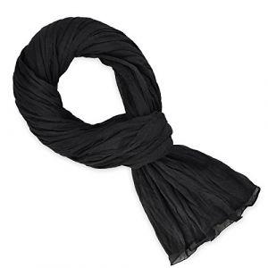 Allée du foulard Echarpe Chèche coton noir uni Noir - Taille Unique
