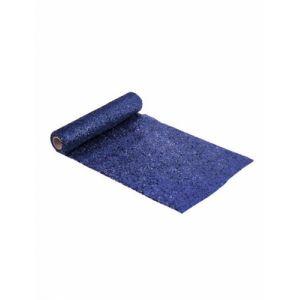 C min de table en plastique pailleté bleu nuit 3 m Taille Unique