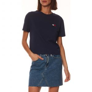Tommy Jeans T-shirt TJW TOMMY BADGE TEE bleu - Taille S,M,L,XL,XS,XXS