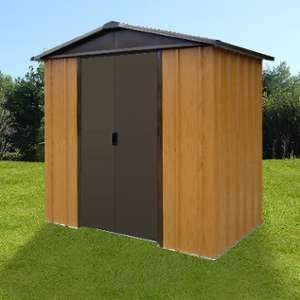 Yardmaster Abri de jardin en métal aspect bois 5,97m²