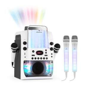 Auna Kara Liquida Dazzl Set karaoké lecteur CD USB MP3 + 2 micros