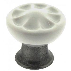 Sofoc Bouton de porte et tiroir de meuble Country en porcelaine et zamak (33 mm)