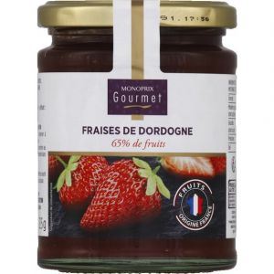 Monoprix gourmet Confiture aux fraises de Dordogne, 65% de fruits