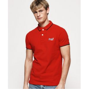 Superdry Hyper Classic Pique Polo, Rouge (Fiery Red OHO), S Homme