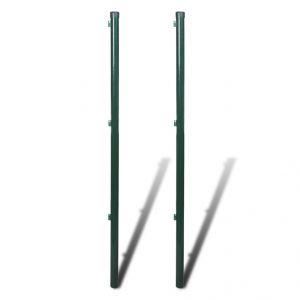 VidaXL 140367 - 2 poteaux pour grillage 200 cm