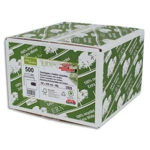 Gpv 500 enveloppes Erapure 16,2 x 22,9 cm avec fenêtre 4,5 x 10 cm