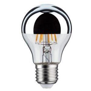 Girard sudron Ampoule led filament E27 6W (eq. 60 watt) 'Calotte argentée' - Dimmable - Couleur eclairage - Blanc chaud 2700°K