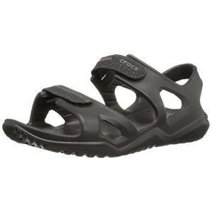 Crocs Swiftwater River Sandal Men, Spartiates Homme, Noir (Black), 41/42 EU