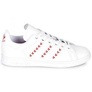 Adidas Baskets -originals Stan Smith Junior - Footwear White / Footwear White / Lush Red - EU 36 2/3