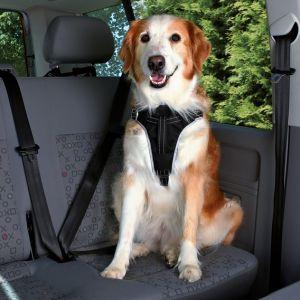 Trixie 12855 - Pack harnais et laisse courte de sécurité voiture chien taille S