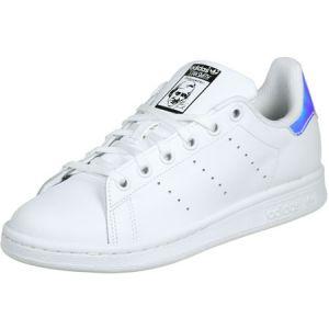 Adidas Stan Smith J, Chaussures de Fitness Mixte Enfant, Blanc (Ftwbla/Plasld 000), 36 2/3 EU