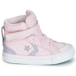 Converse Chaussures enfant PRO BLAZE STRAP TIPPED BACK COURT TEXTILE HI rose - Taille 20,21,22,23,25,26