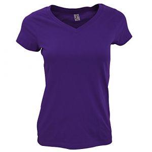 Sol's T-shirt Sols Tshirt à manches courtes violet - Taille EU XXL,EU S,EU M,EU L,EU XL,EU 3XL