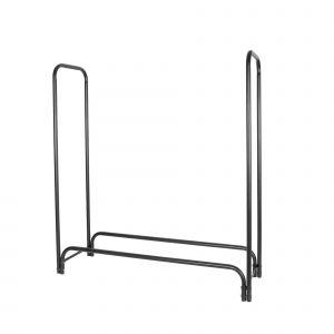 BC-Elec Bc elec - HMFR-05 Rangement à bois en acier noir 150x36x120CM, rack pour bois de chauffage, range bûches