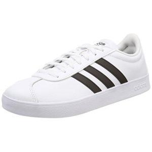 Adidas VL Court 2.0, Chaussures de Fitness Homme, Blanc (Ftwbla/Negbas 000), 42 2/3 EU