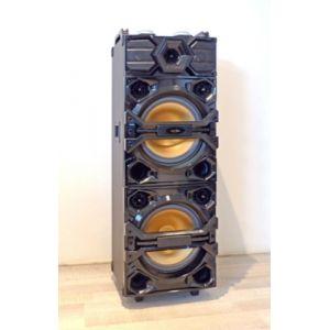 Inovalley HP55XXL Enceinte lumineuse karaoké - 2 x 300W - Haut-parleurs 2 x 300 Watts - Bluetooth V2.0 - Lumières colorées synchronisées avec la musique
