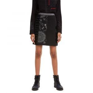 Desigual Skirt Craig Jupe, Noir (Negro 2000), Large Femme
