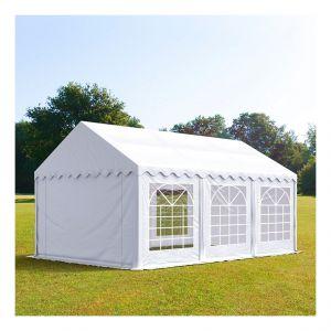 Intent24 Tente de réception 4 x 6 m PVC anti-feu blanc