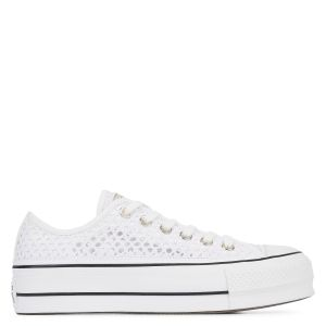 Converse Chuck Taylor All Star Lift Handmade Crochet Ox - Baskets Femme, Blanc