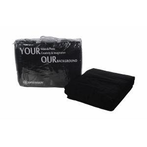 Bresser Fond Tissu Noir 3 x 6 m + sac de transport